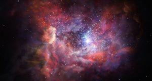 Древняя галактика A2744 YD4 глазами художника.