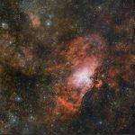 Групповой портрет трех туманностей от телескопа VST