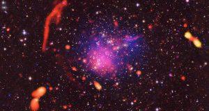 Астрономы наблюдают столкновение скоплений галактик