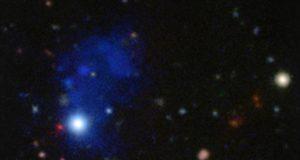 Астрономы обнаружили гигантскую туманность около далёкого квазара